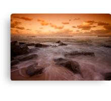 Bar Beach at Dusk 7 Canvas Print