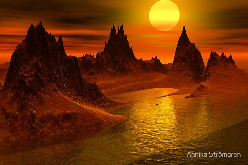 Serene sunset by Annika Strömgren