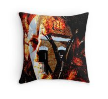 She Set Fire To The House Throw Pillow