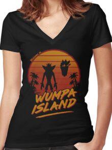 wunpa island Women's Fitted V-Neck T-Shirt