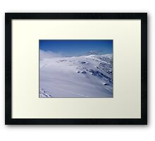 Falls Creek fresh snow Framed Print