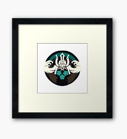 Samurai Emblem Framed Print