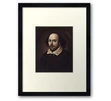 Vintage Portrait of William Shakespeare Framed Print