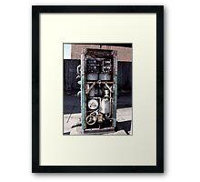 At the Bowser Framed Print