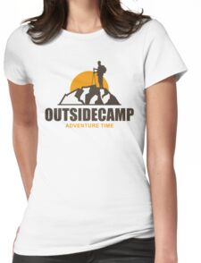 Camping Camp Outdoor Nature Mountain Green Adventure Womens Fitted T-Shirt