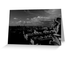 The Gargoyle Watches Greeting Card