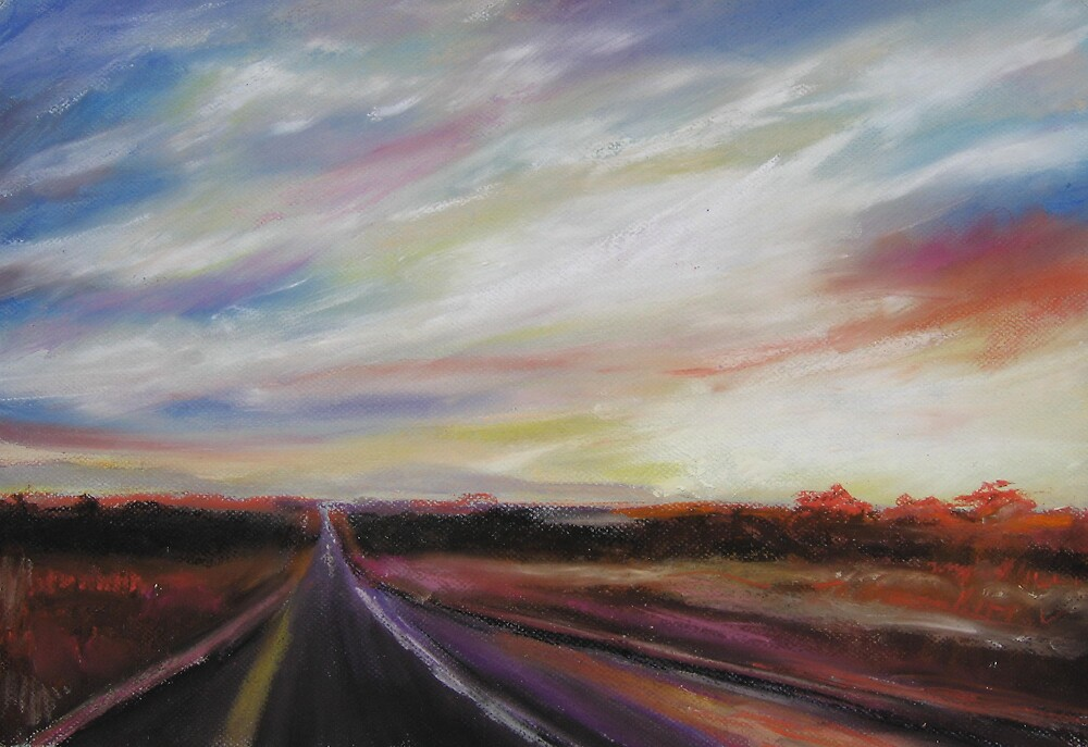 sunshine road (pastel) by kenny cheng