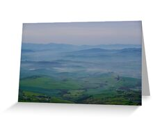 Mists over Tuscany Greeting Card