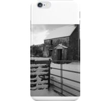 Abandoned Farmhouse in Winter  iPhone Case/Skin