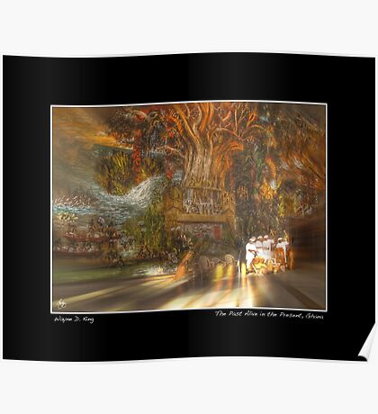 The Past Alive in the Present in Ghana Fine Art Poster Poster