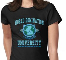 World Domination University Womens Fitted T-Shirt