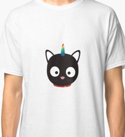 Unicorn Cat with rainbows R0ml8 Classic T-Shirt