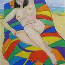 Beach Girl # 4 by Virginia McGowan
