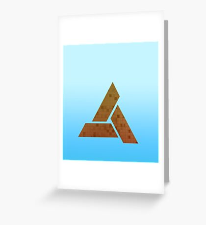 Sky Blue Triangles Greeting Card