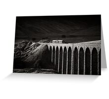 Evening local, Ribblehead, Yorkshire, England. Greeting Card