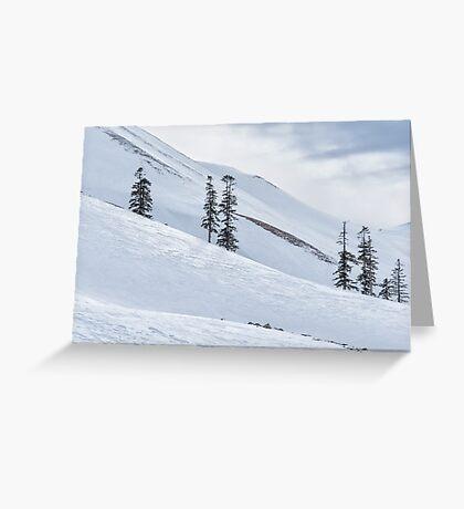 Shiny Snow Greeting Card