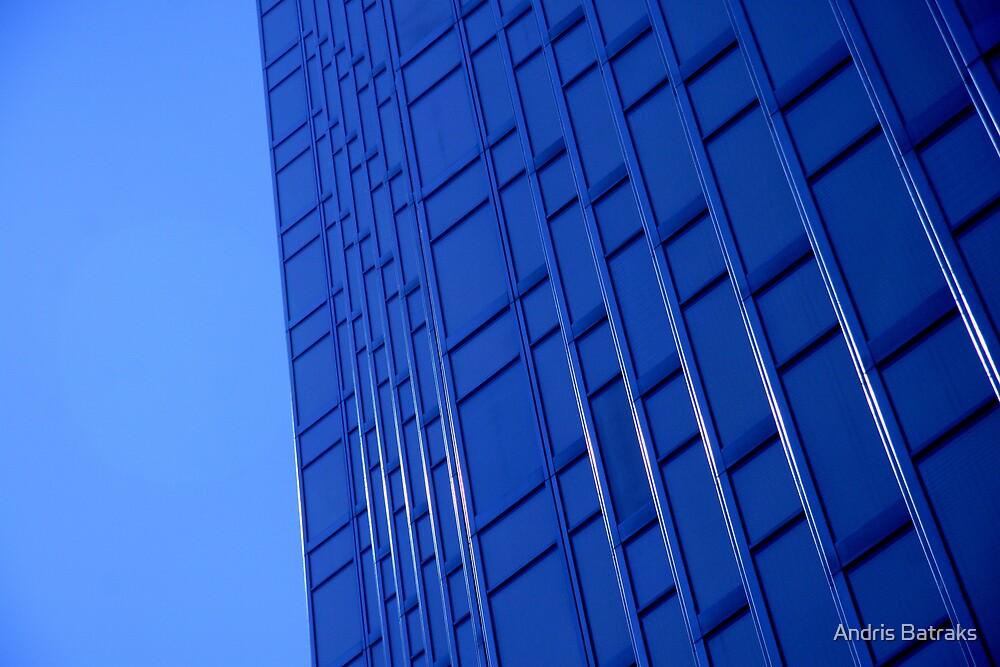 Bold Blue Office by Andris Batraks