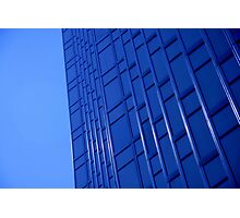 Bold Blue Office Photographic Print