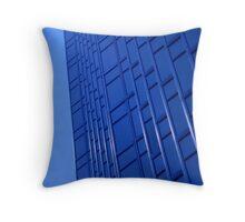 Bold Blue Office Throw Pillow