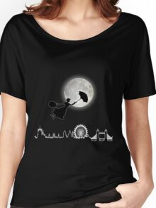 Magical Nanny Over London - neon light Women's Relaxed Fit T-Shirt