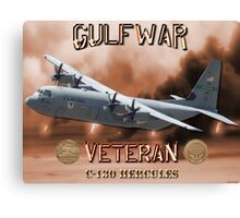 C-130 Hercules Gulf War Veteran Canvas Print
