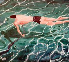 Underwater swimmer  by Woodie