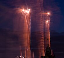 Fireworks and Balmoral Hotel, Edinburgh by beakydave