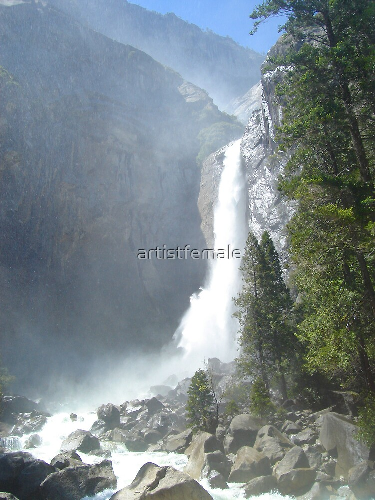Lower Falls at Yosemite 1 by artistfemale