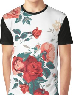 Vintage Flowers - White Graphic T-Shirt