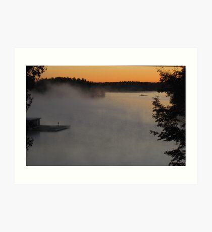 Misty Fall Morning Art Print