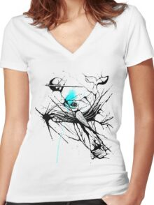 Flying Whale Women's Fitted V-Neck T-Shirt