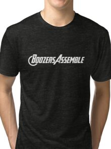 Boozers Assemble! Tweaked for Unisex Tri-blend T-Shirt