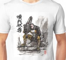 Zaeed from Mass Effect sumi and watercolor style Unisex T-Shirt