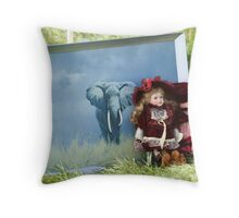 """second hand"" safari Throw Pillow"