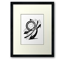 Arrows 01 - Curves Framed Print