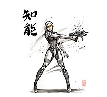 EDI from Mass Effect Universe sumi and watercolor style Photographic Print