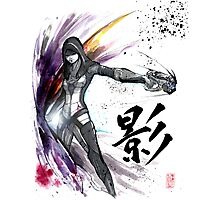 Kasumi from Mass Effect sumi and watercolor style Photographic Print