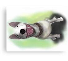 Lola English Bull Terrier Painting Metal Print