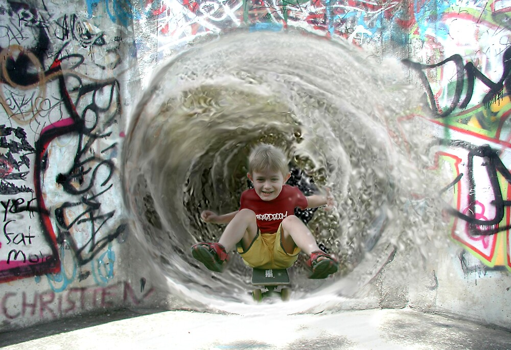 Shotting the Tube by Cliff Vestergaard