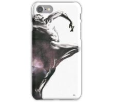Shadowtwister dancer  - textured conté drawing iPhone Case/Skin