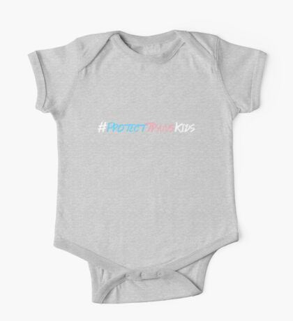 Protect Trans Kids Hashtag One Piece - Short Sleeve
