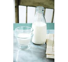 Milk Bottles Photographic Print