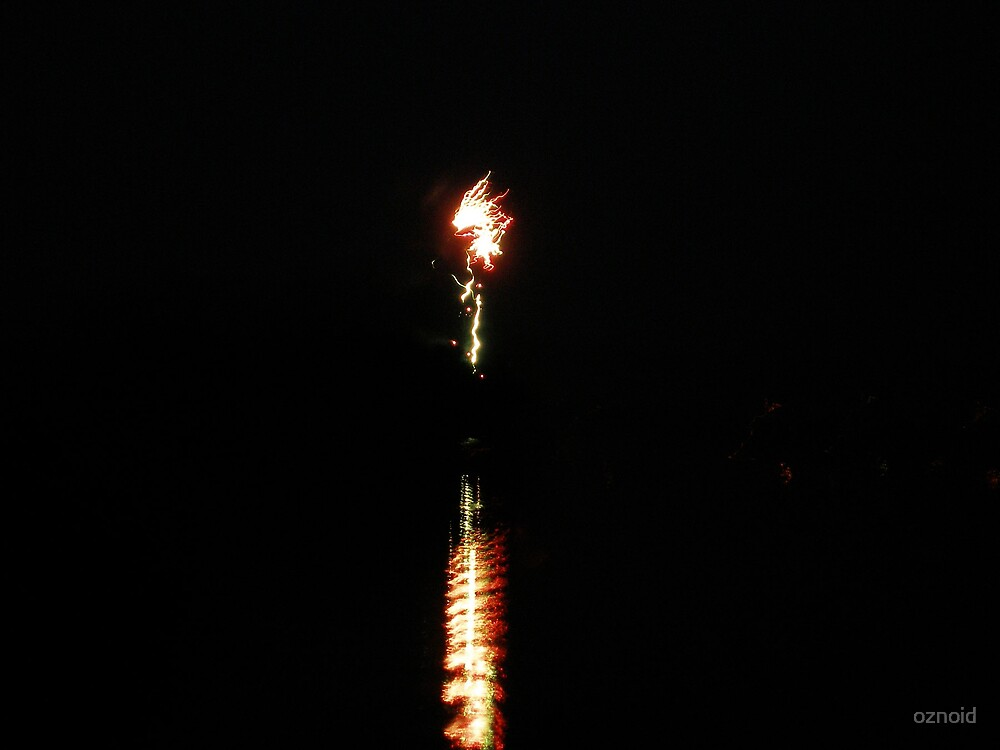 Firework on the water 2 by oznoid