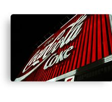 Coke Sign Canvas Print