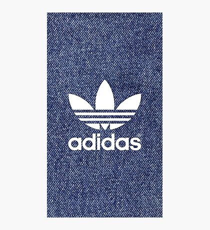 adidas in blue jins Photographic Print