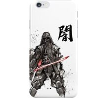 Samurai Darth Vader sumi ink and watercolor iPhone Case/Skin