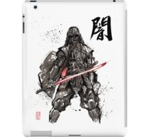 Samurai Darth Vader sumi ink and watercolor iPad Case/Skin