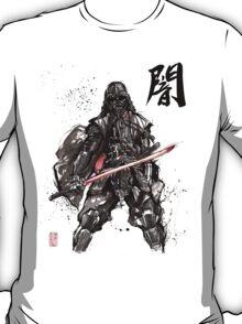 Samurai Darth Vader sumi ink and watercolor T-Shirt