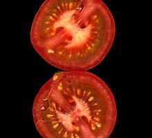 Sliced Tomato by Jeffrey  Sinnock