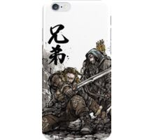 Kili and Fili from the Hobbit sumi ink and watercolor iPhone Case/Skin